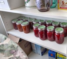 Fruit jam shelf
